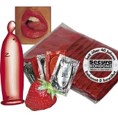 100 preservatifs a la fraise