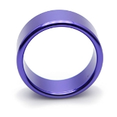 Cockring bleu en aluminium 45mm