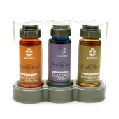 Coffret 3 huiles abricot cassis vanille