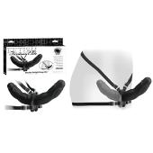Double gode ceinture noir Fetish Fantasy 26 cm