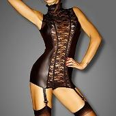 Jolie robe courte sexy à jarretelles