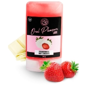 Lubrifiant Oral Pleasure Saveur Fraise Chocolat Blanc - 50 ml