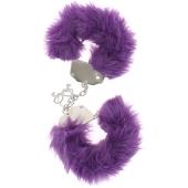 Sex toys pas chers - Menottes pas ch�res - Menottes metal en fourrure couleur pourpre