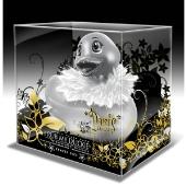 Mini canard Paris argenté avec bec pailleté