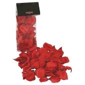 Pétales de roses en tissu rouge