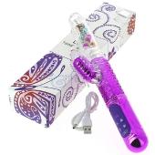 Vibromasseur Va et Vient Butterfly rechargeable - 5 rangées - 36 modes