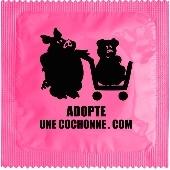 1 X préservatif Adopte Une Cochonne