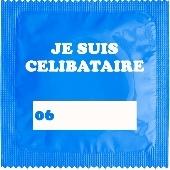 1 X préservatif Je Suis Celibataire Bleu