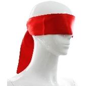 Bandeau en satin rouge - 140 cm