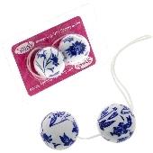Boules de geisha Spoody Seven fleurs bleues