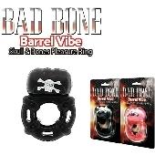 Cockring vibrant noir Bad Bone Barrel Vibe - 3 vitesses