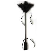 Cravache avec Plumeau noir - 50 cm