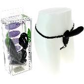 Gode ceinture en latex noir - 14 cm