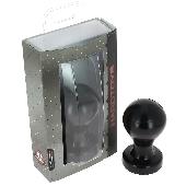 Plug anal noir 11 cm - Ø 6 - Fabriqué en France