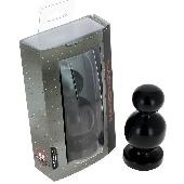 Plug anal noir 13 cm - Ø 6 - Fabriqué en France