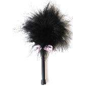 Plumeau Marabu noir - 18 cm